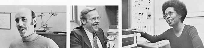 photographs of Mr. Ilstrup, Dr. Kennedy and Miss Birden