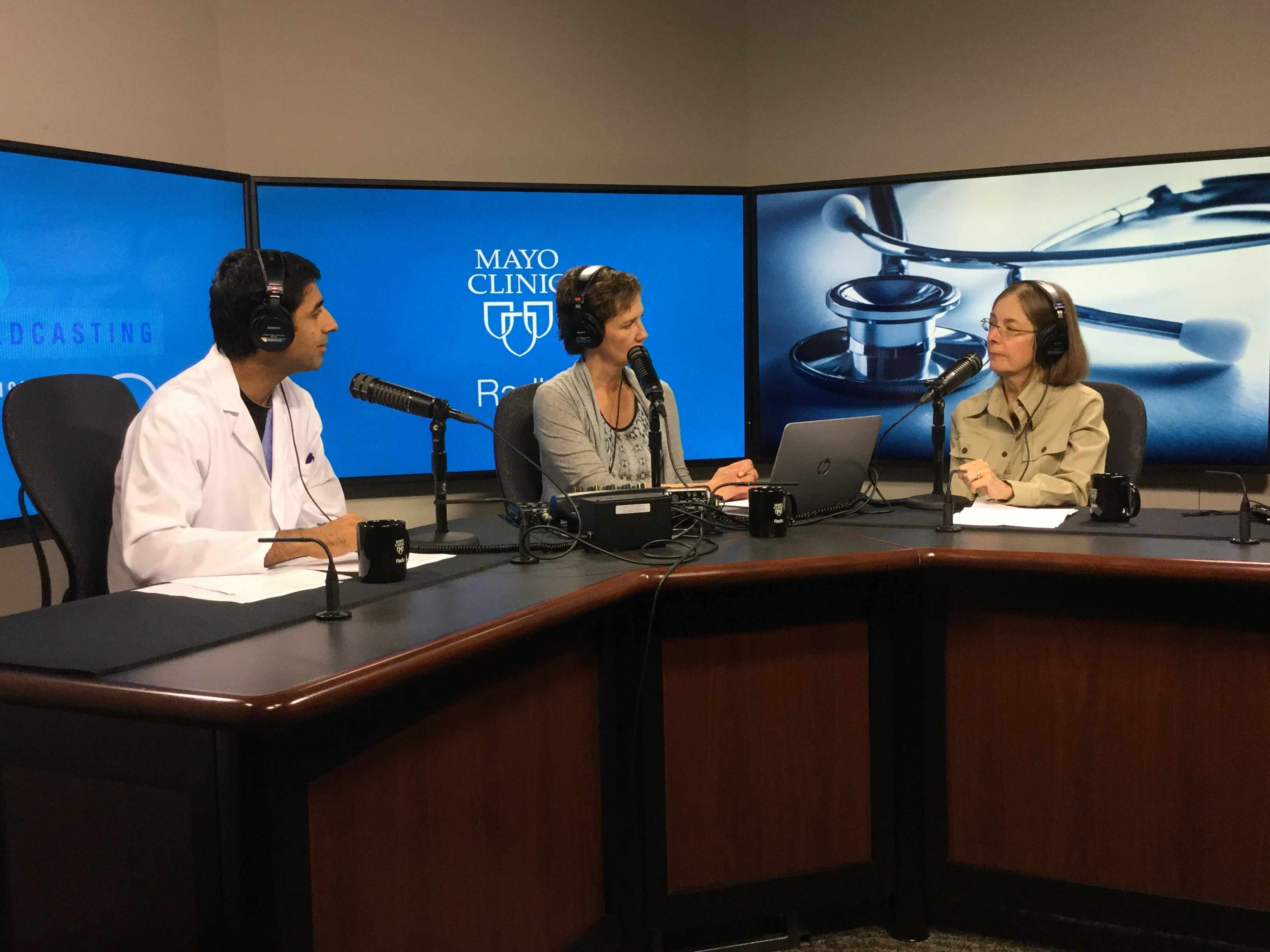 Dr. Carola Arndt being interviewed on Mayo Clinic Radio