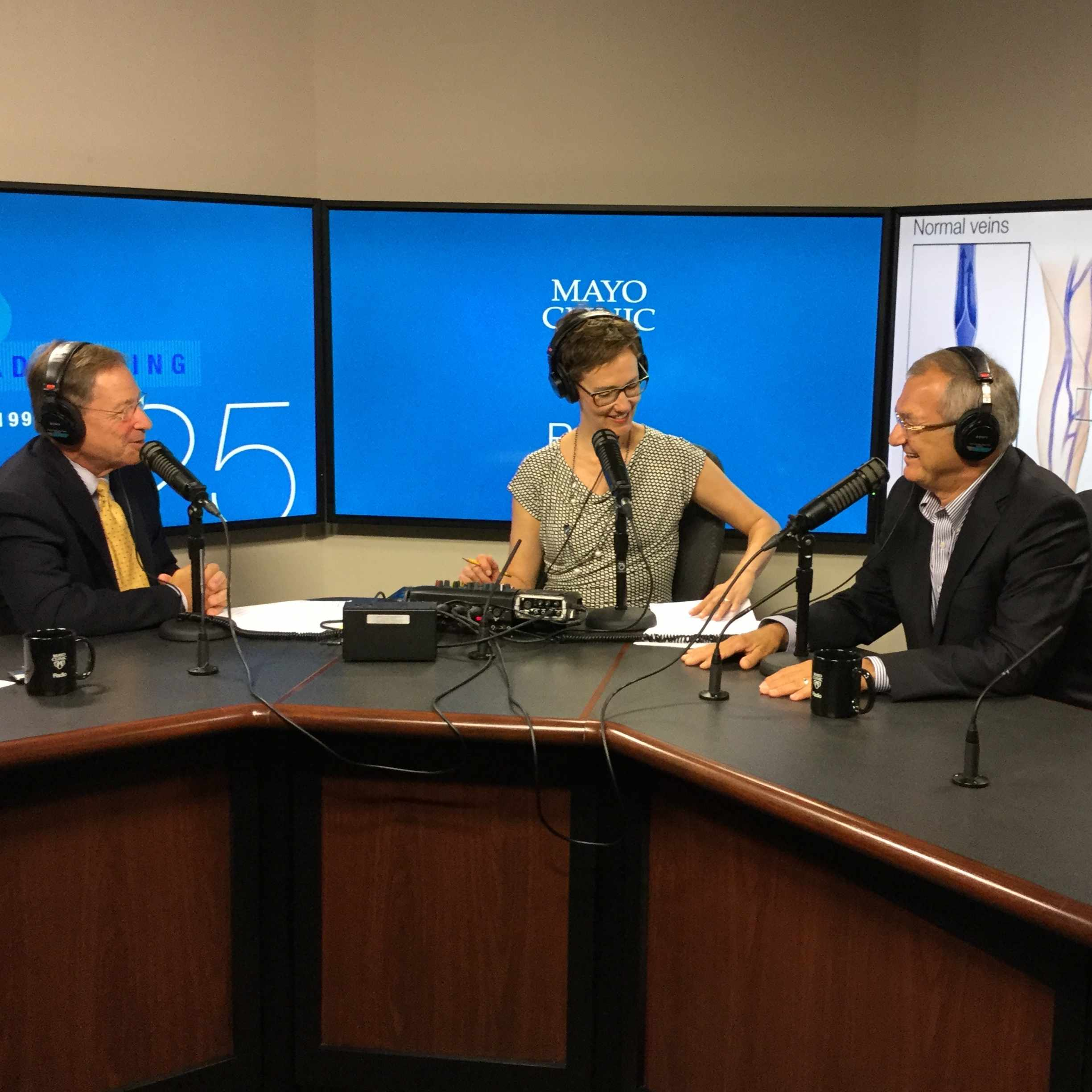 Dr. Peter Gloviczki being interviewed on Mayo Clinic Radio