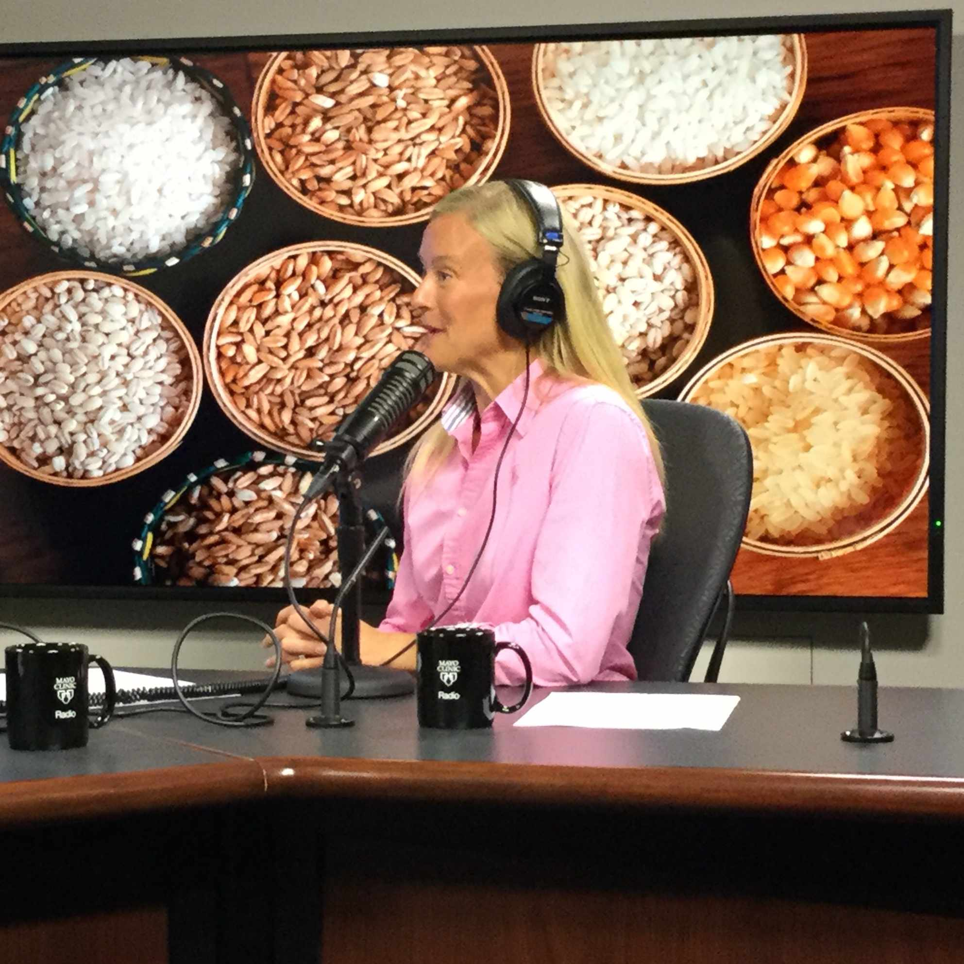 Kate Zeratsky being interviewed on Mayo Clinic Radio