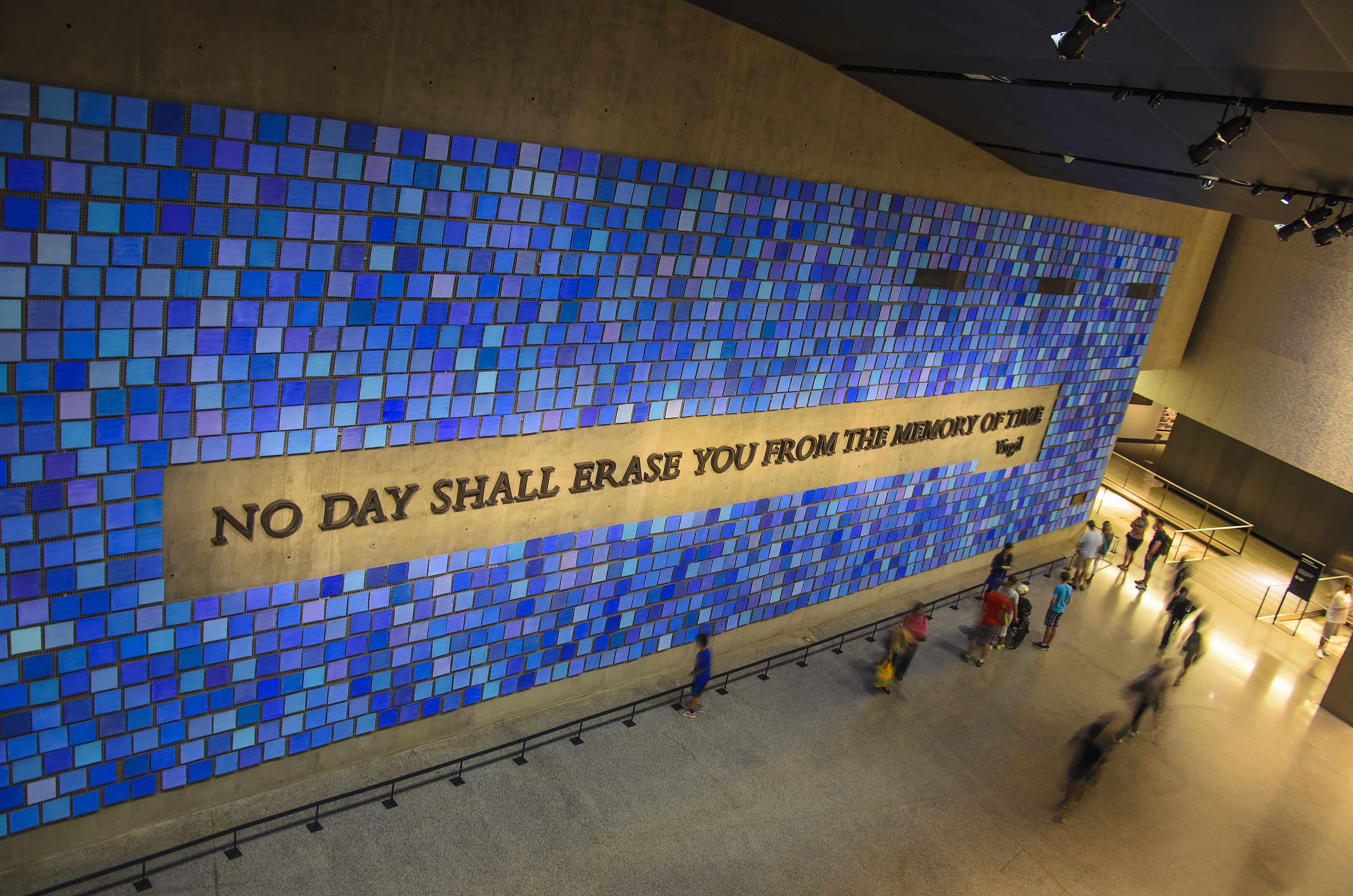 JULY 2016: Interior of the 9/11 Memorial Museum in New York City