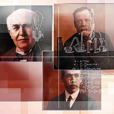 Discovery's Edge illustration of inventors
