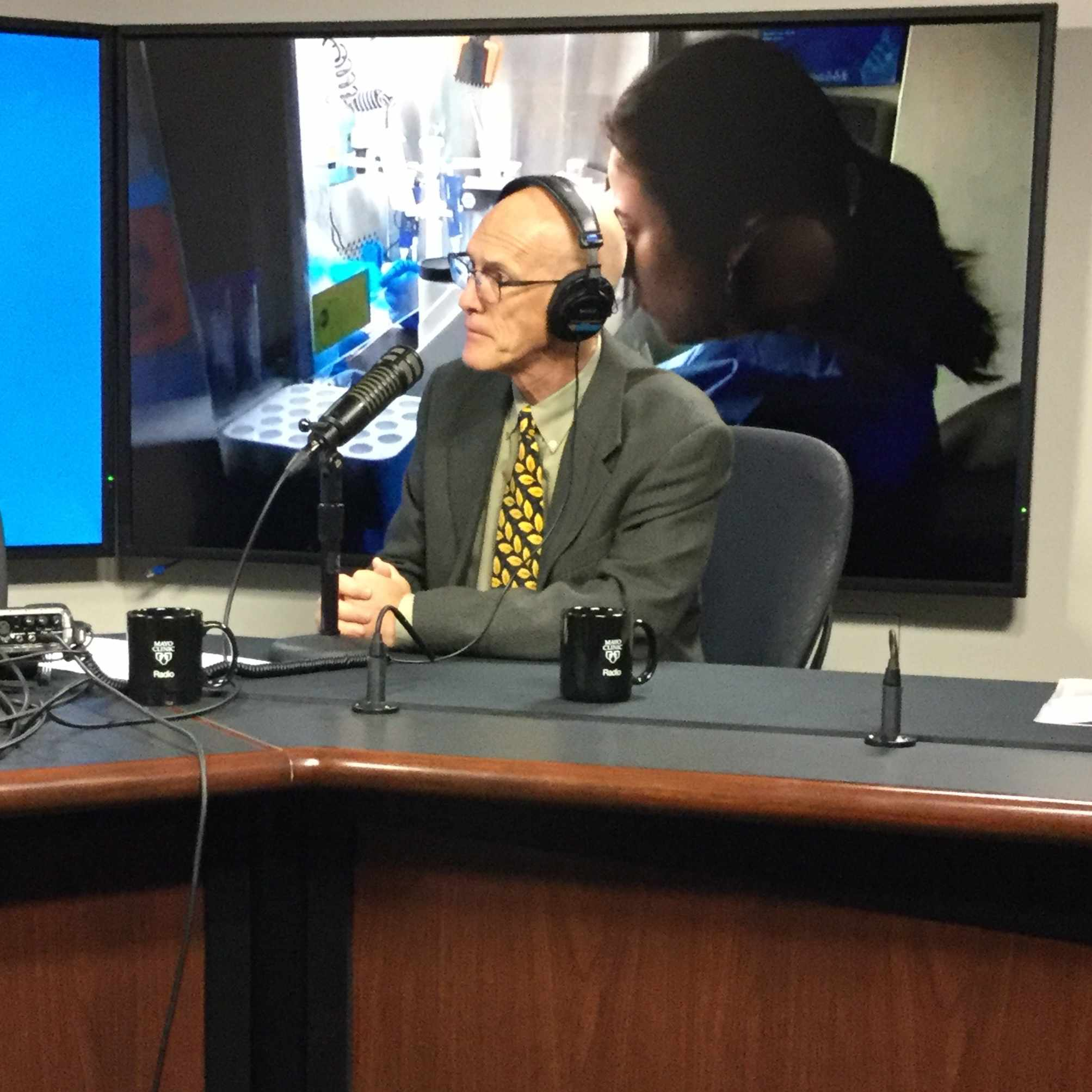 Dr. Gregory Poland being interviewed on Mayo Clinic Radio