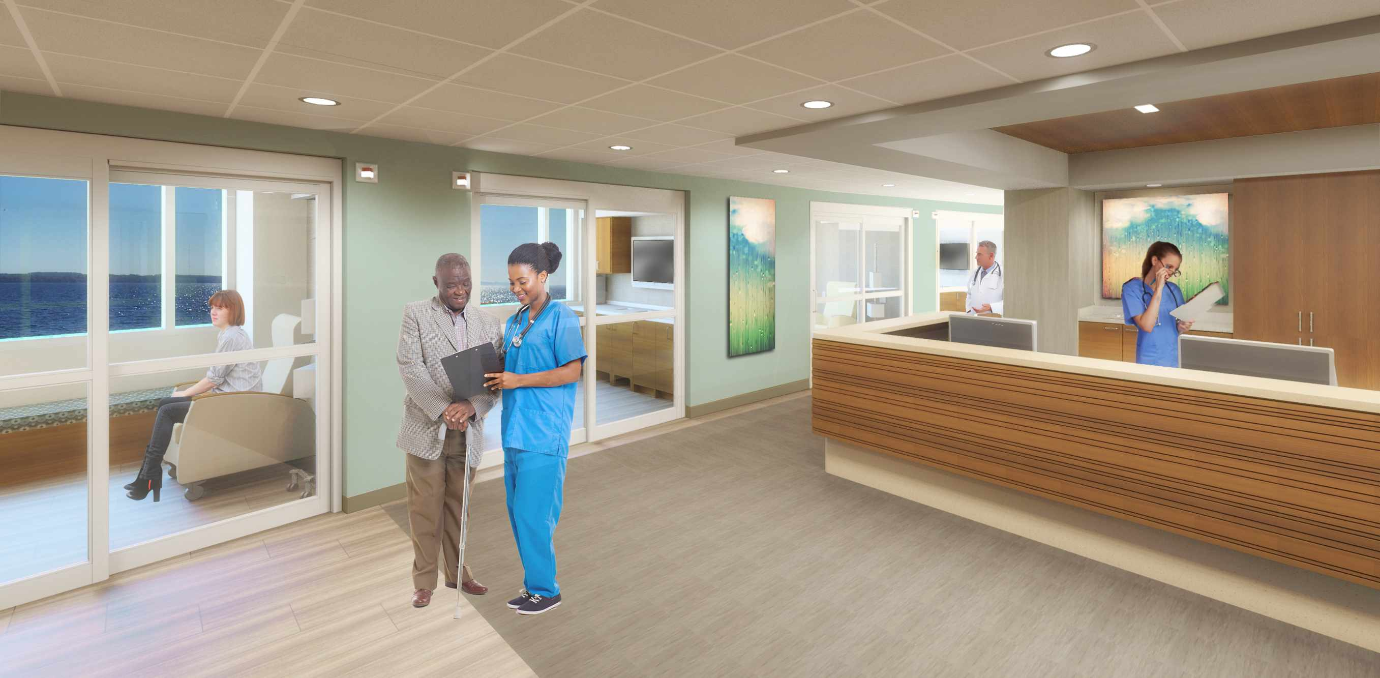 Artist rendering of Mayo Clinic Cancer Center at St. Vincent
