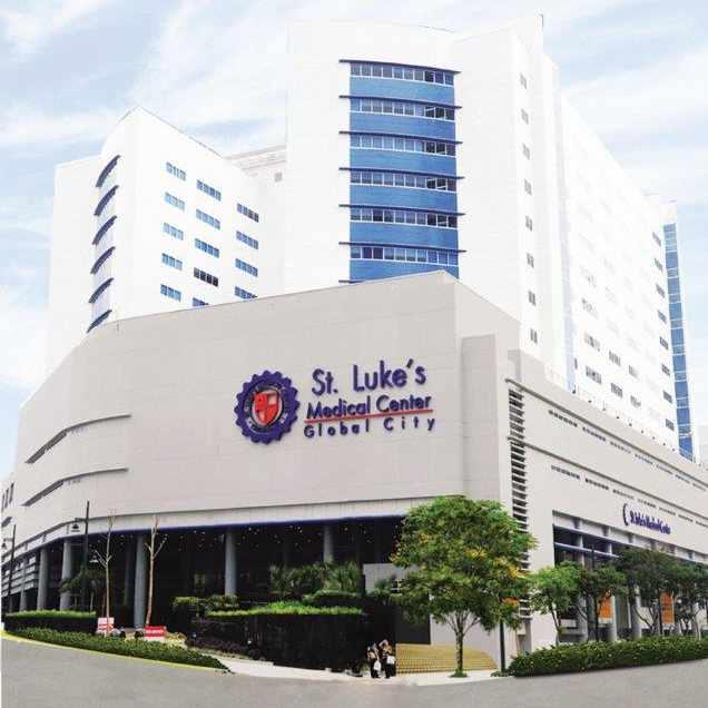 The facade of St. Lukes Medical Center in Global City MCCN