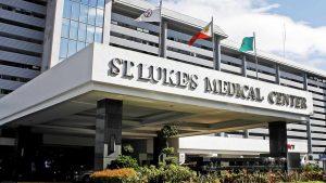 The facade of St. Luke's Medical Center in Quezon City