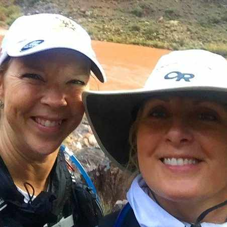 patient and nurse taking selfie at the Grand Canyon