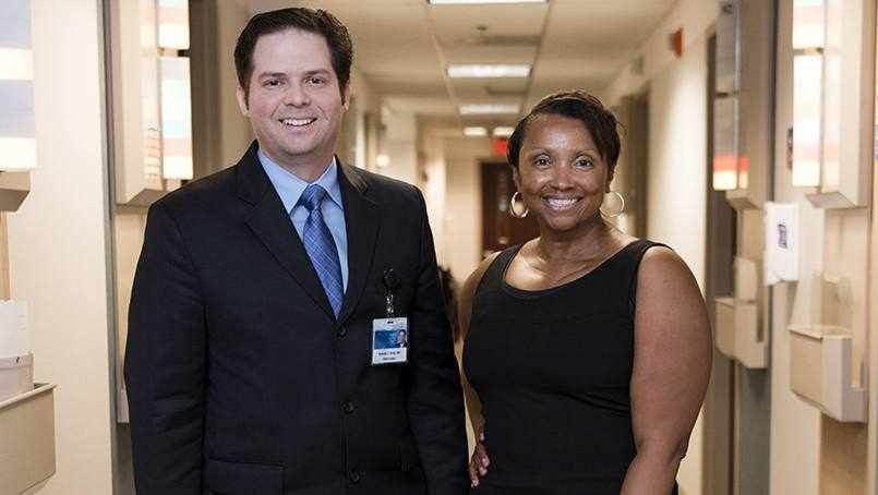 patient Angenette Monroe with her surgeon Dr. Antonio Forte