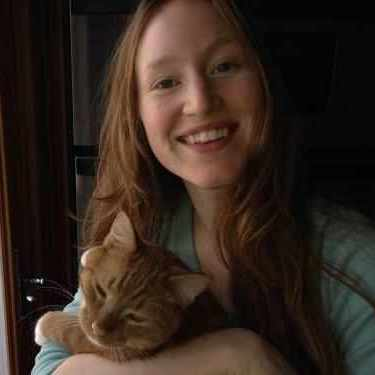 Claire with her cat