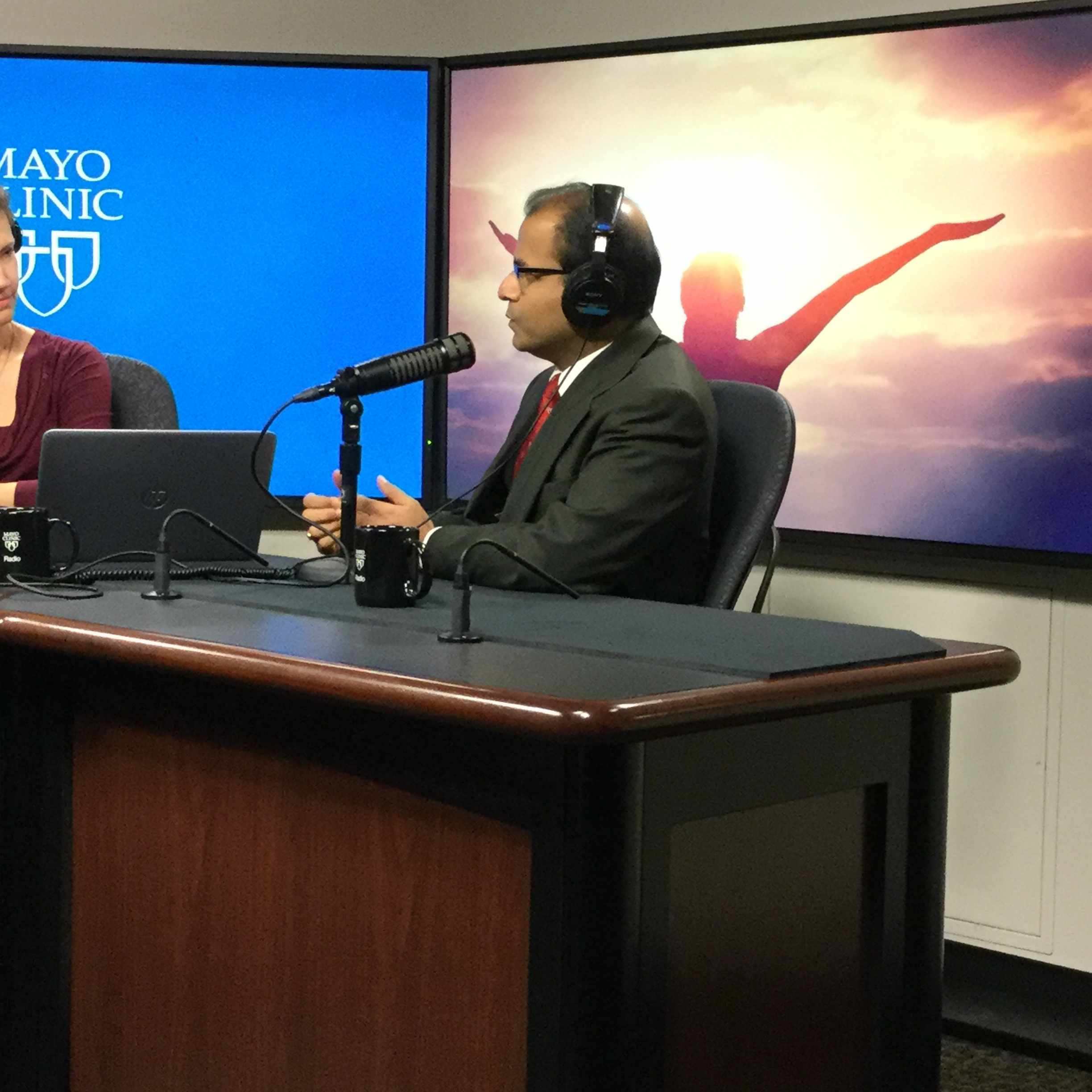 Dr. Amit Sood being interviewed on Mayo Clinic Radio
