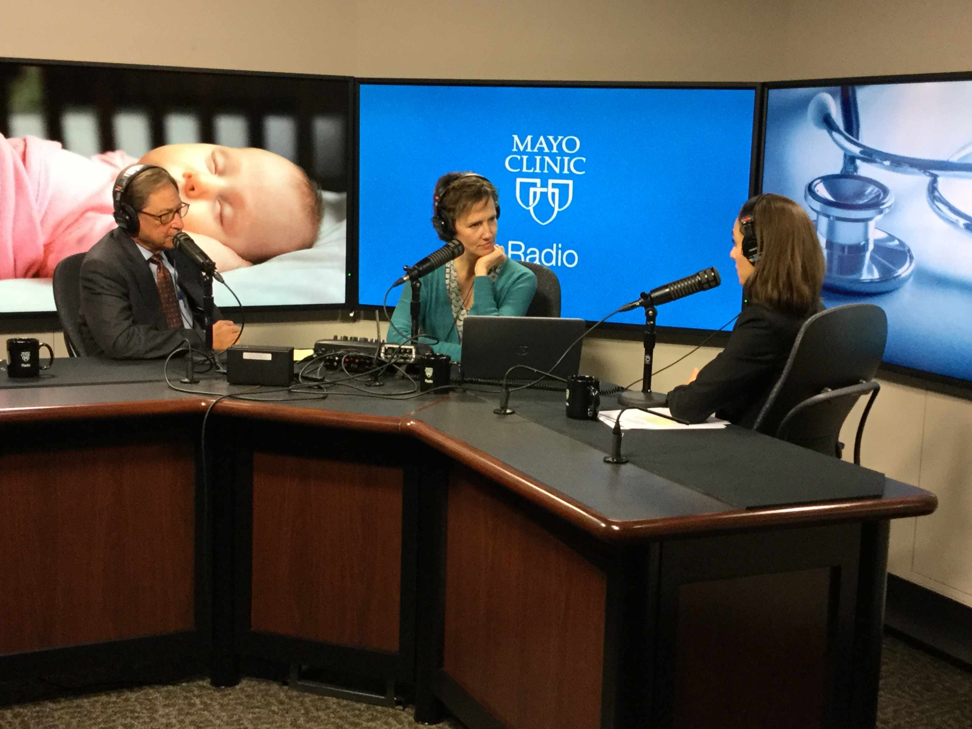 Dr. Esther Krych being interviewed on Mayo Clinic Radio