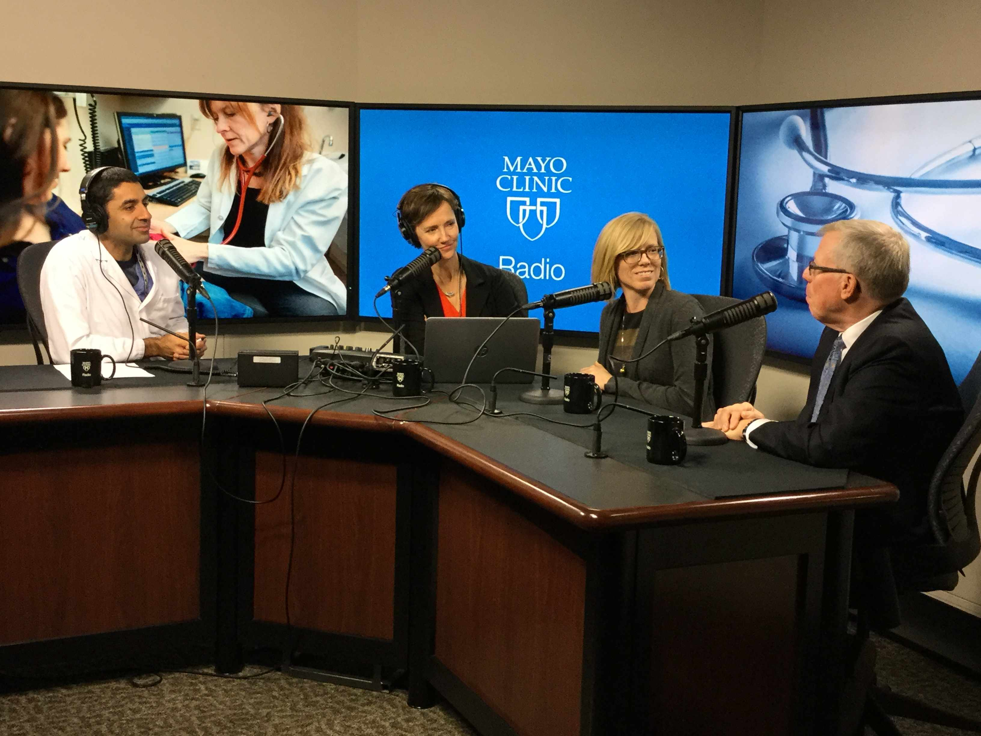 Dr. John Wilkinson and Dr. Elizabeth Cozine being interviewed on Mayo Clinic Radio