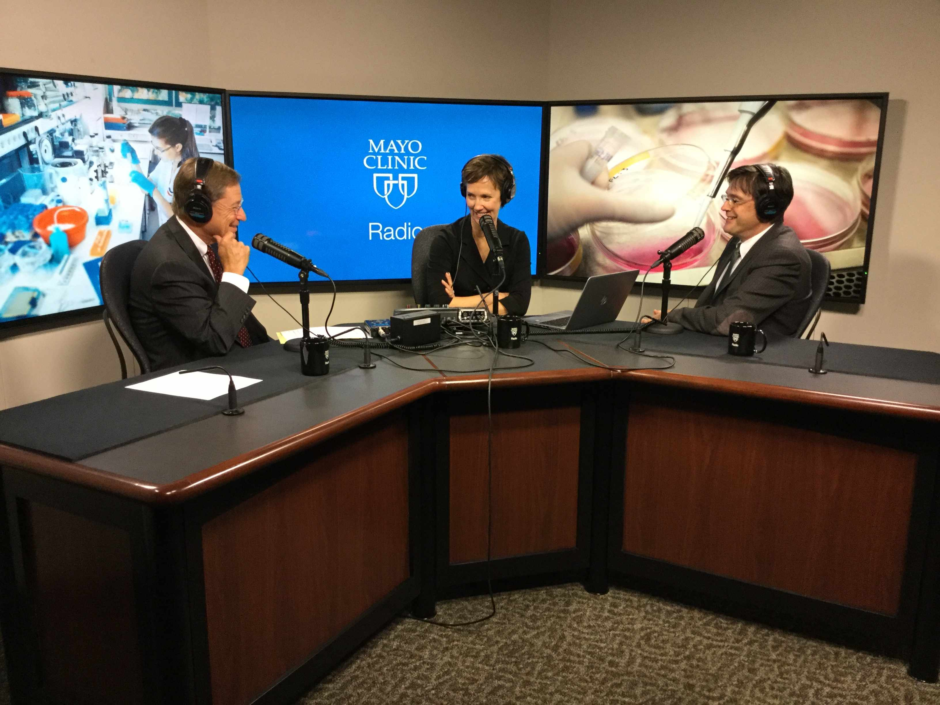 Dr. Svetomir Markovic being interviewed on Mayo Clinic Radio