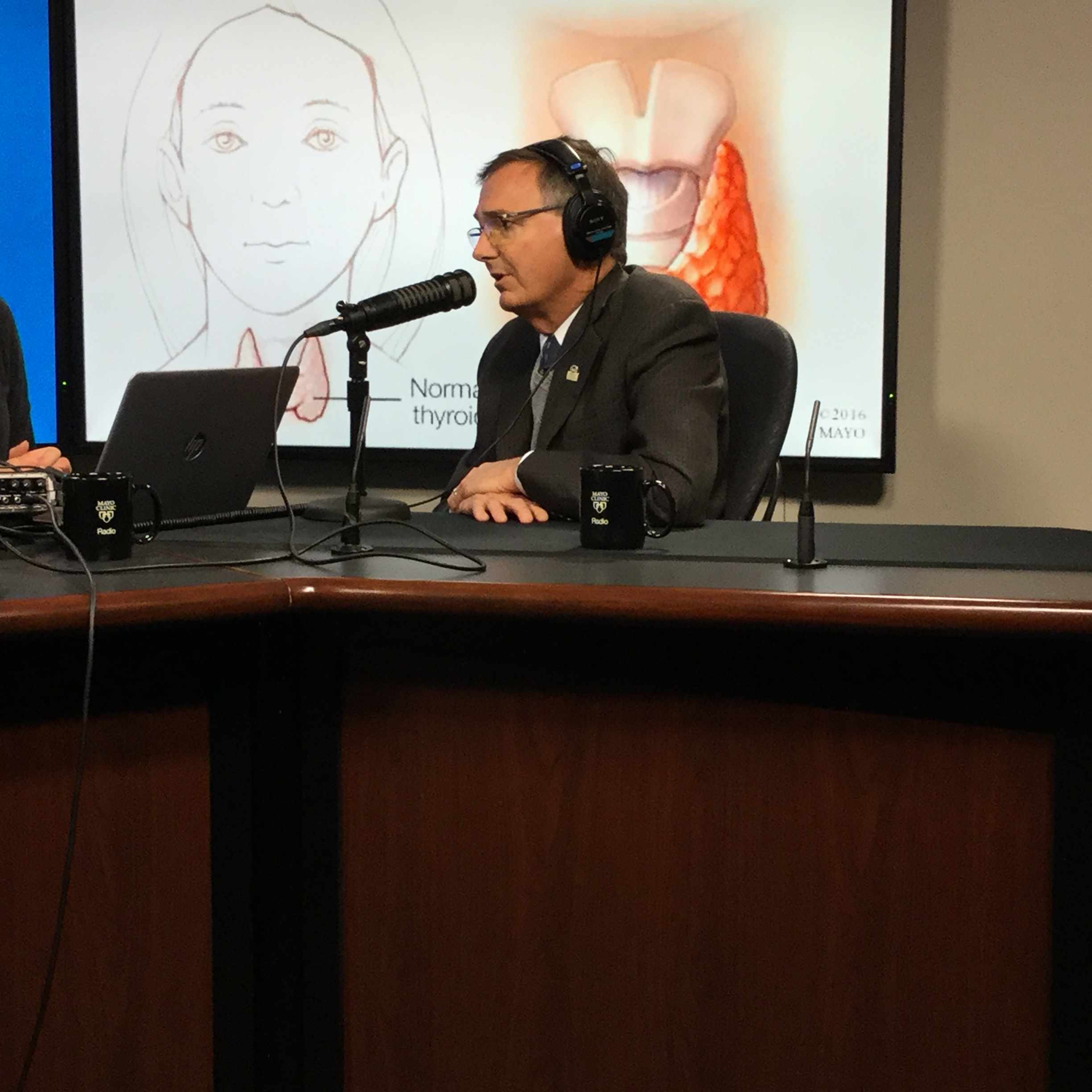 Dr. John C. Morris being interviewed on Mayo Clinic Radio