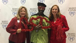 Mayo Clinic Employees in red for National Wear Red Day