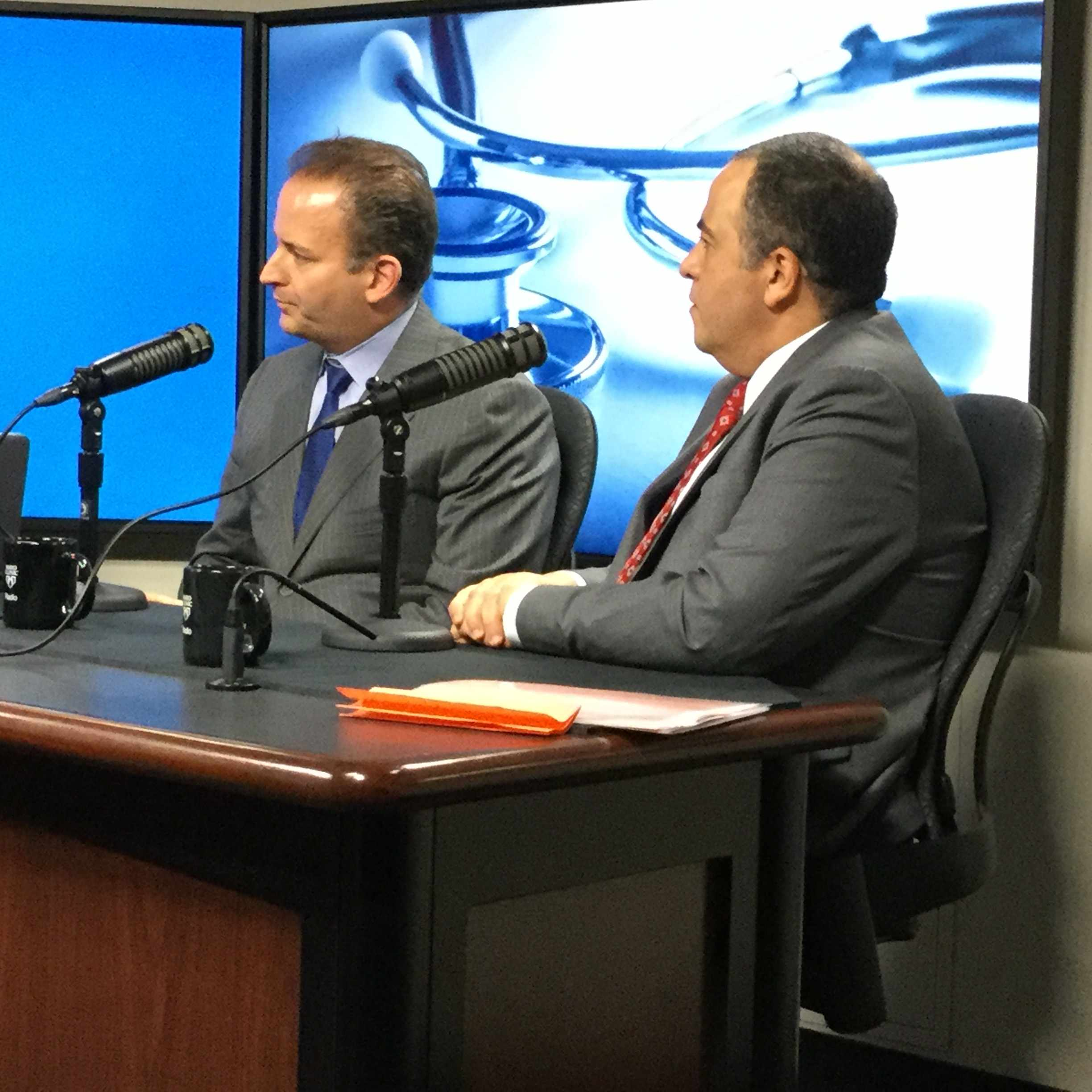Dr. Samir Mardini and Dr. Hatem Amer being interviewed on Mayo Clinic Radio