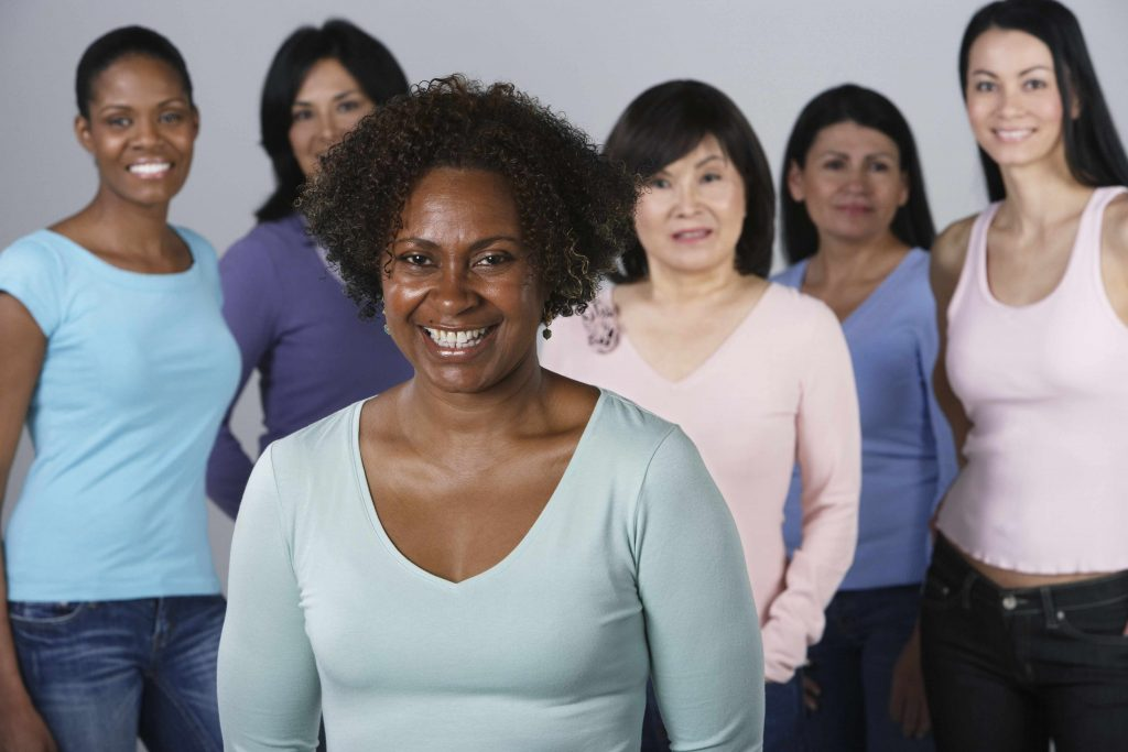 an ethnically diverse group of women
