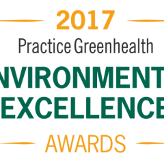 Logo for 2017 Practice Greenhealth Environmental Excellence Awards