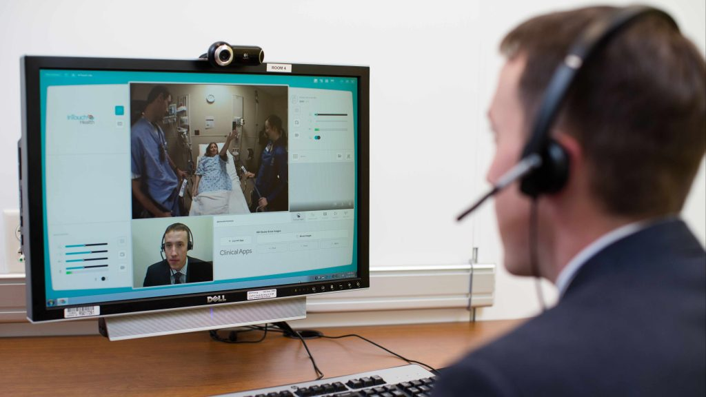 physician using telemedicine