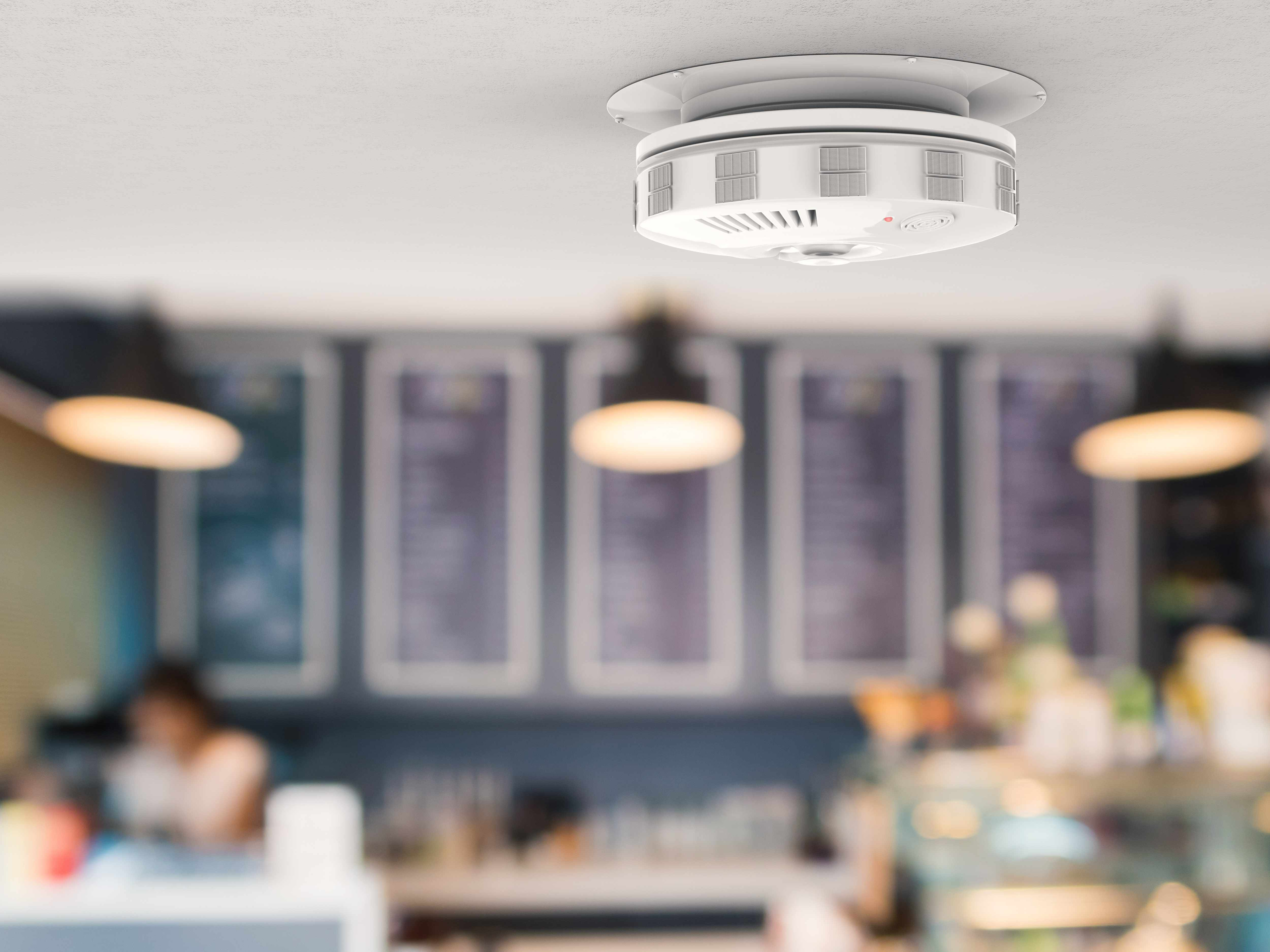 carbon monoxide smoke detector in restaurant