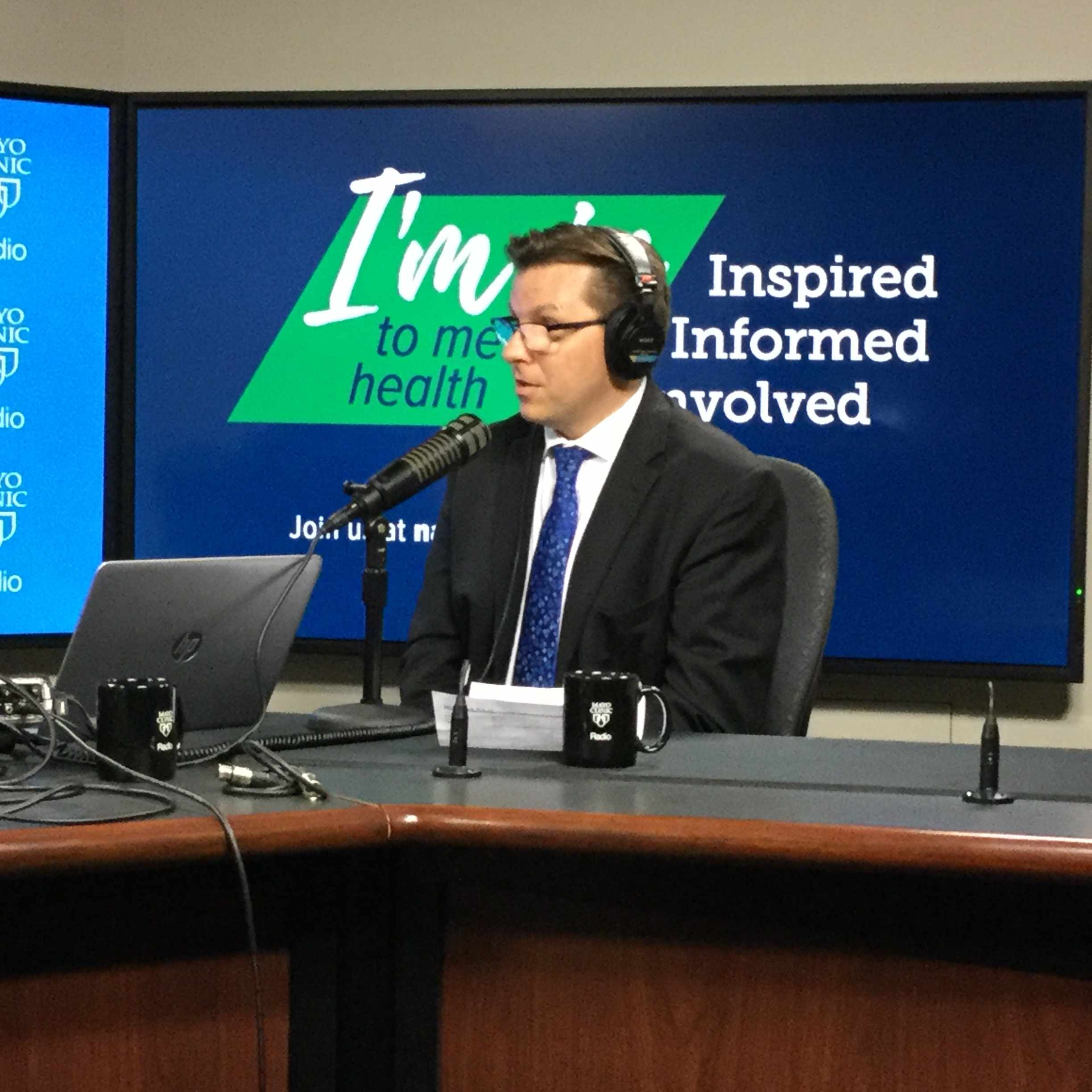 Dr. Craig Sawchuk being interviewed on Mayo Clinic Radio