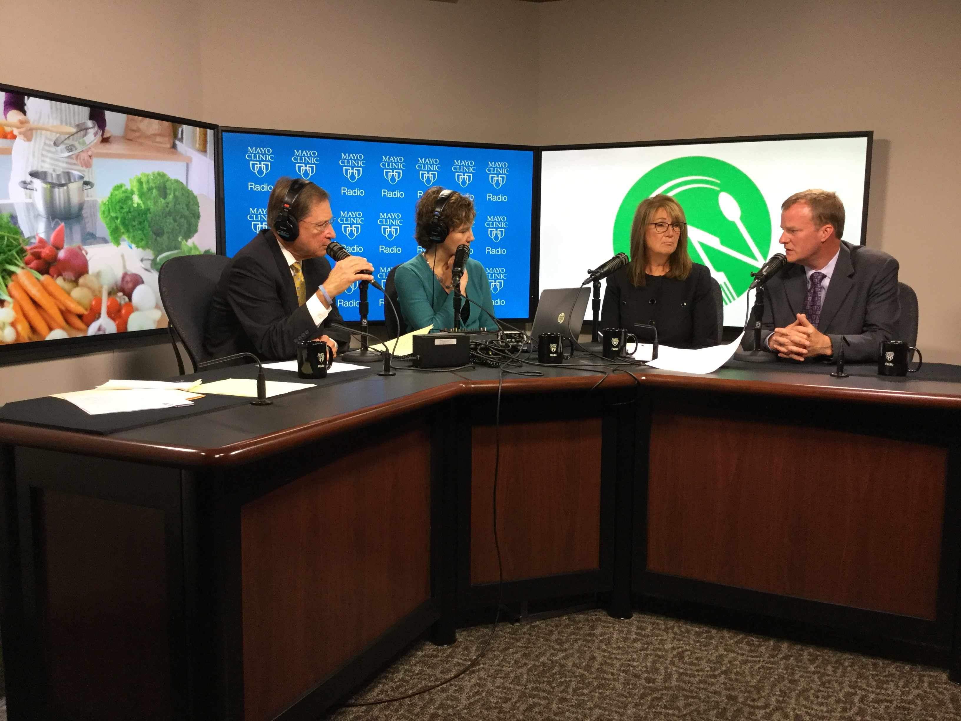 Dr. Paul Limburg and Terre McJoynt being interviewed on Mayo Clinic Radio