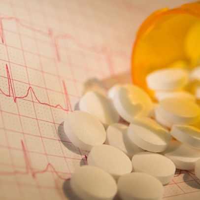Gráfico de la frecuencia cardíaca con medicamentos
