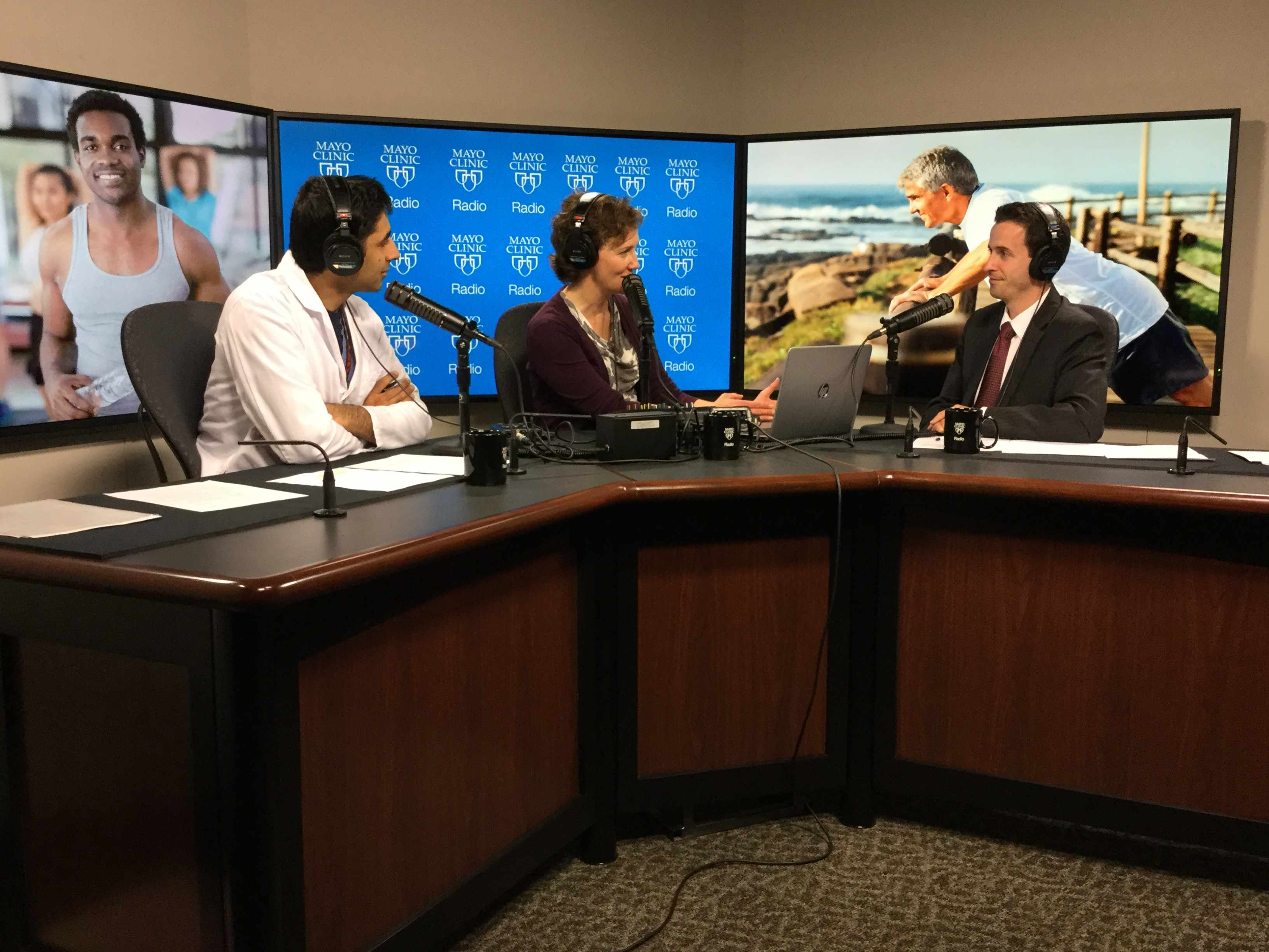 Dr. Landon Trost being interviewed on Mayo Clinic Radio