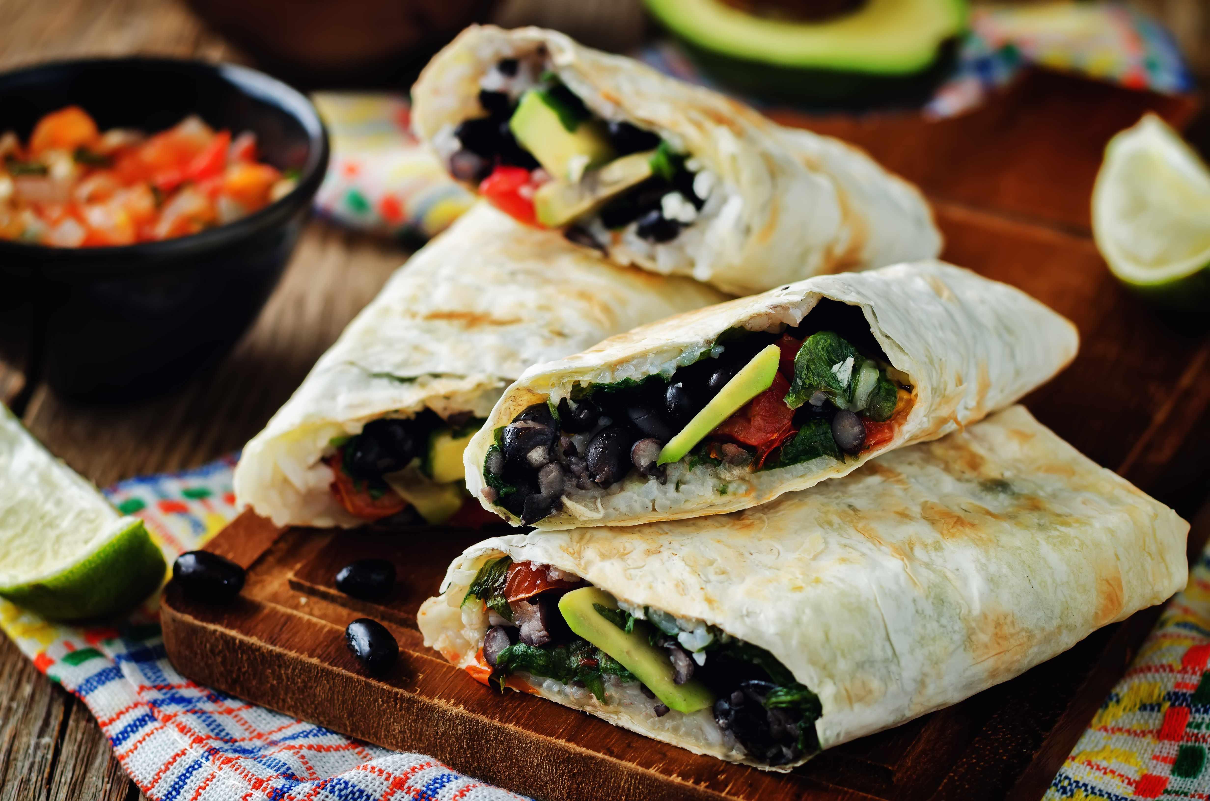 black bean quesadillas with vegetables