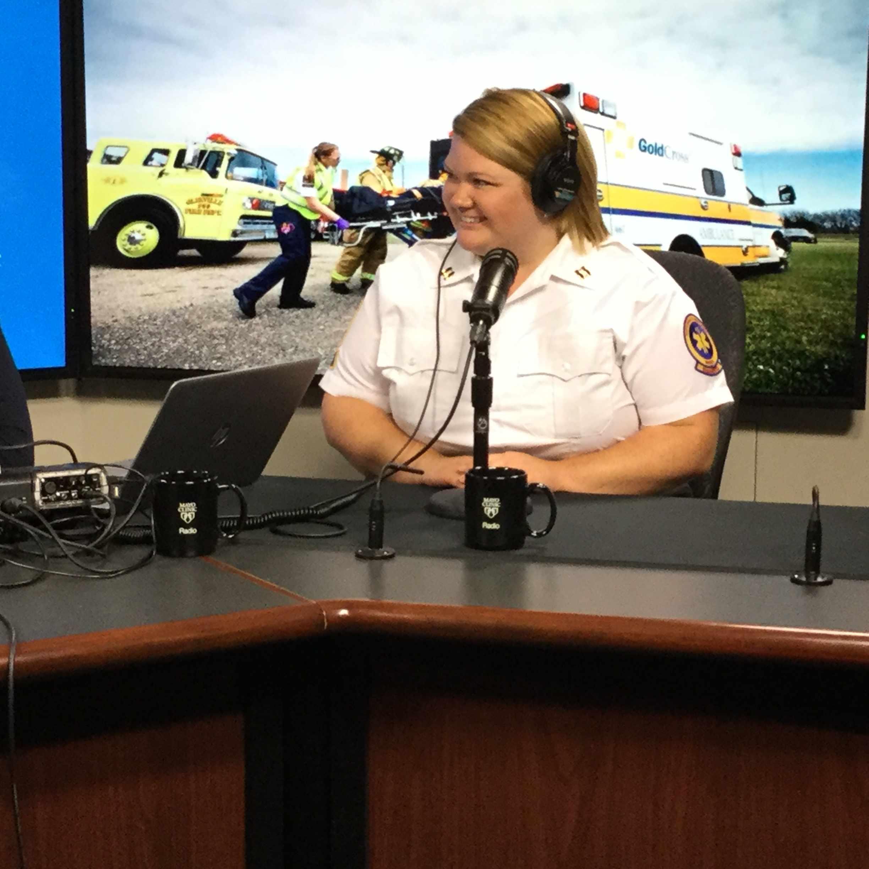 Angela Jarrett being interviewed on Mayo Clinic Radio
