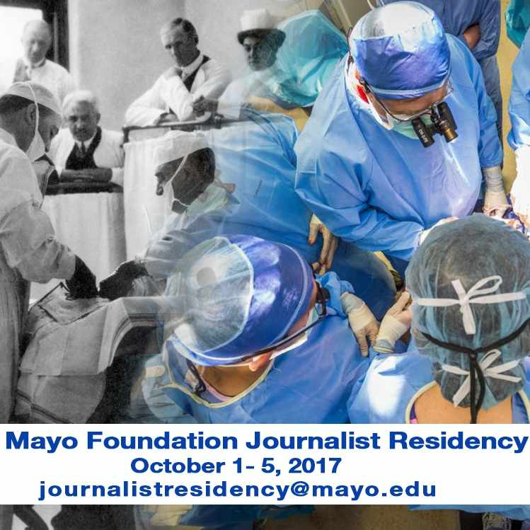 Mayo Foundation Journalist Residency graphic