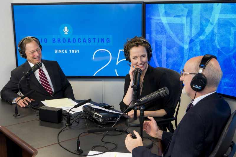 Dr. Joseph Murray being interviewed on Mayo Clinic Radio