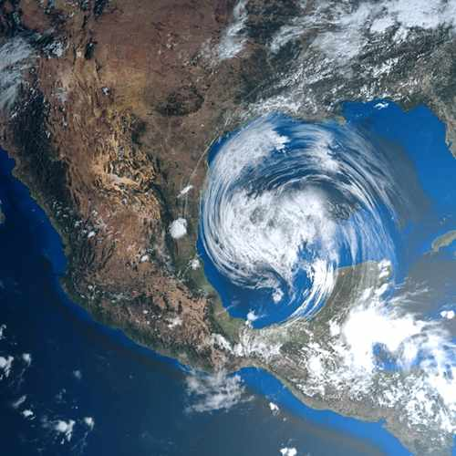 Hurricane Harvey from satellite view