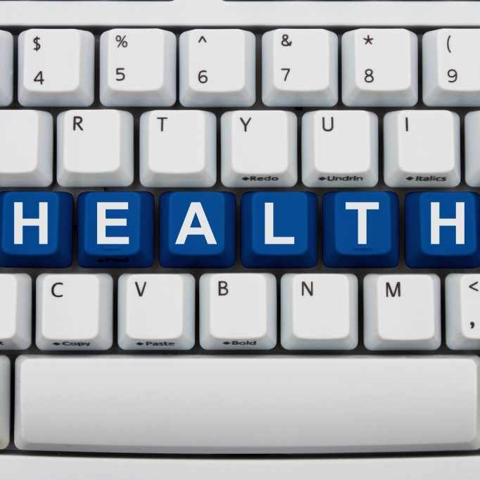 computer keyboard with word health