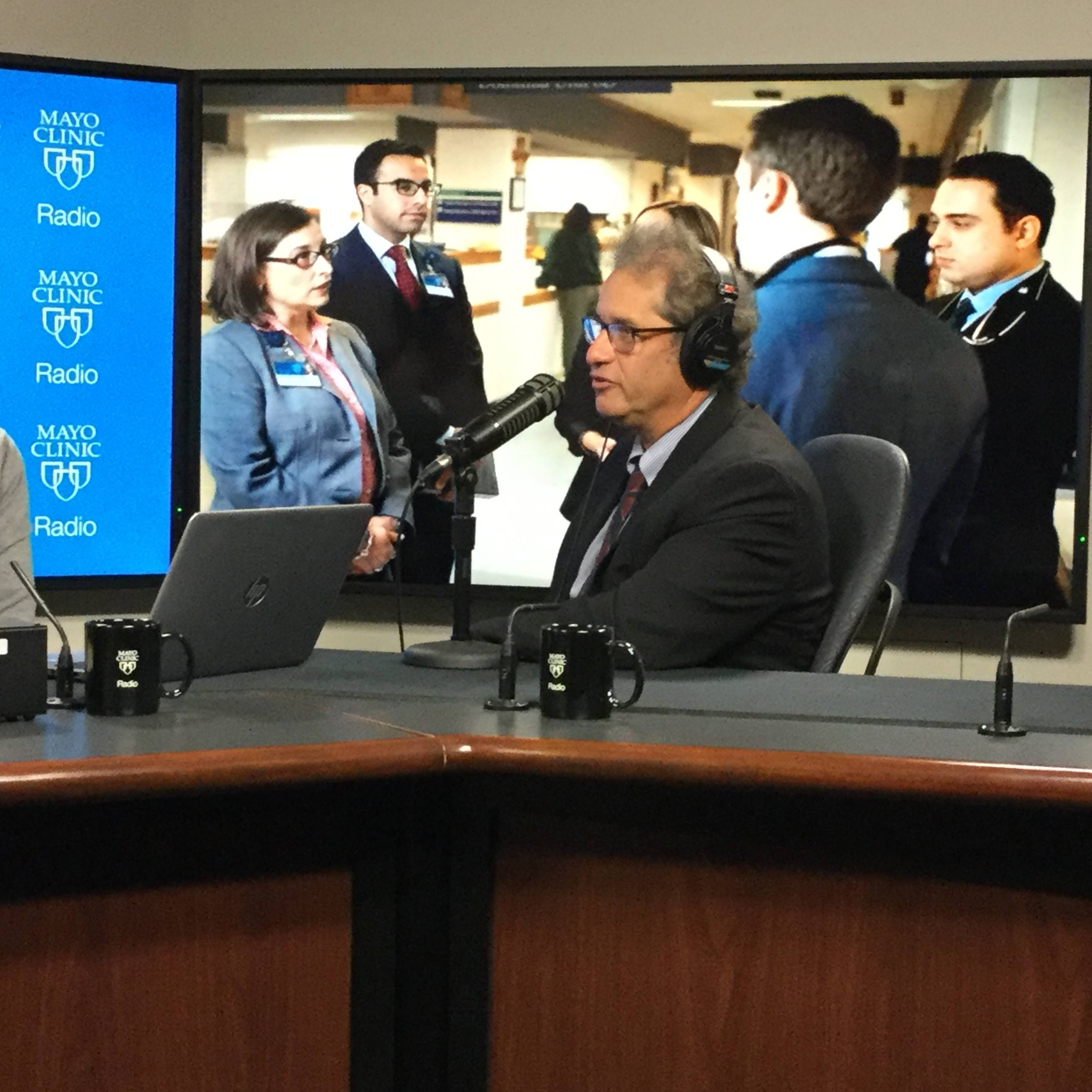 Dr. Fredric Meyer being interviewed on Mayo Clinic Radio