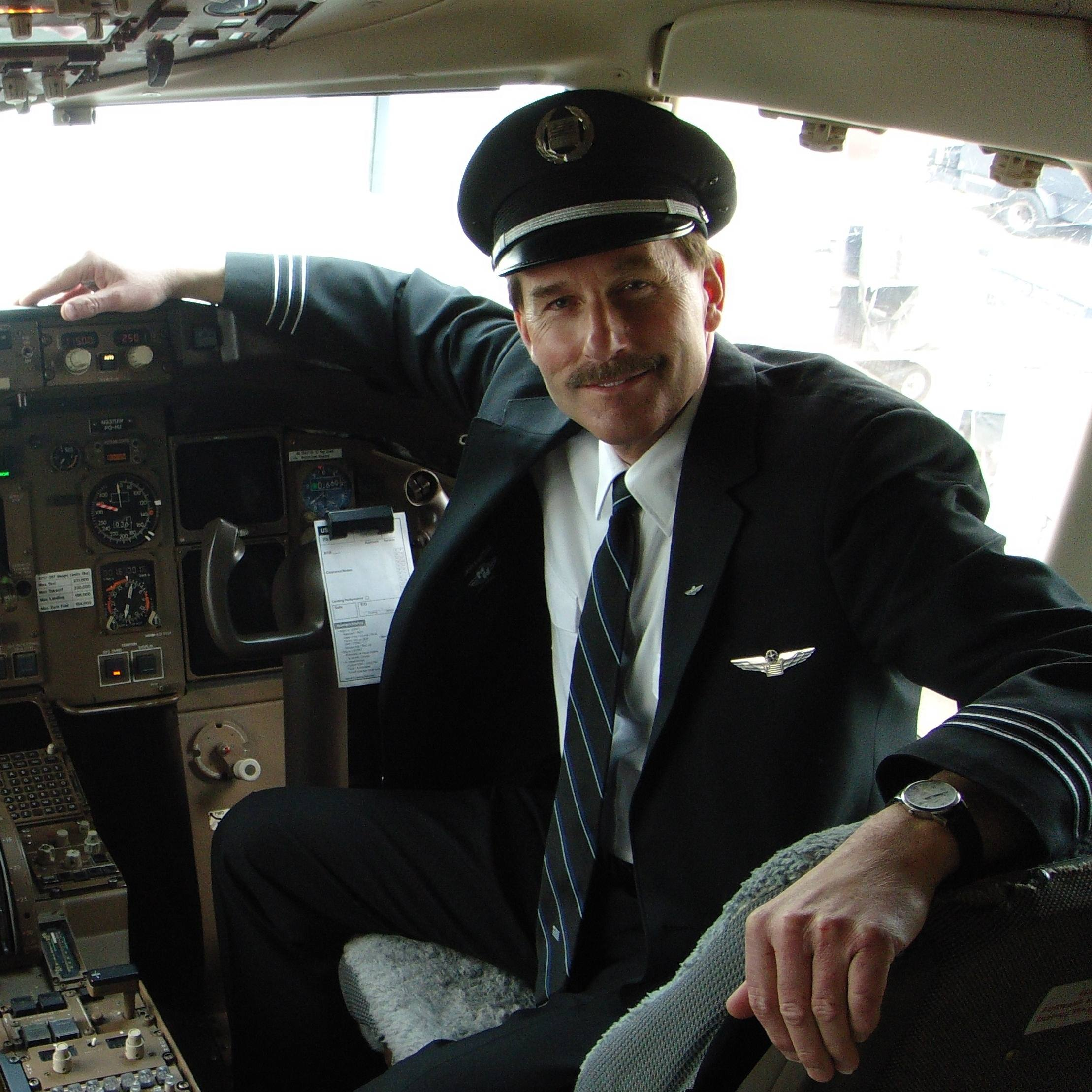 Jeff Skiles in airplane cockpit