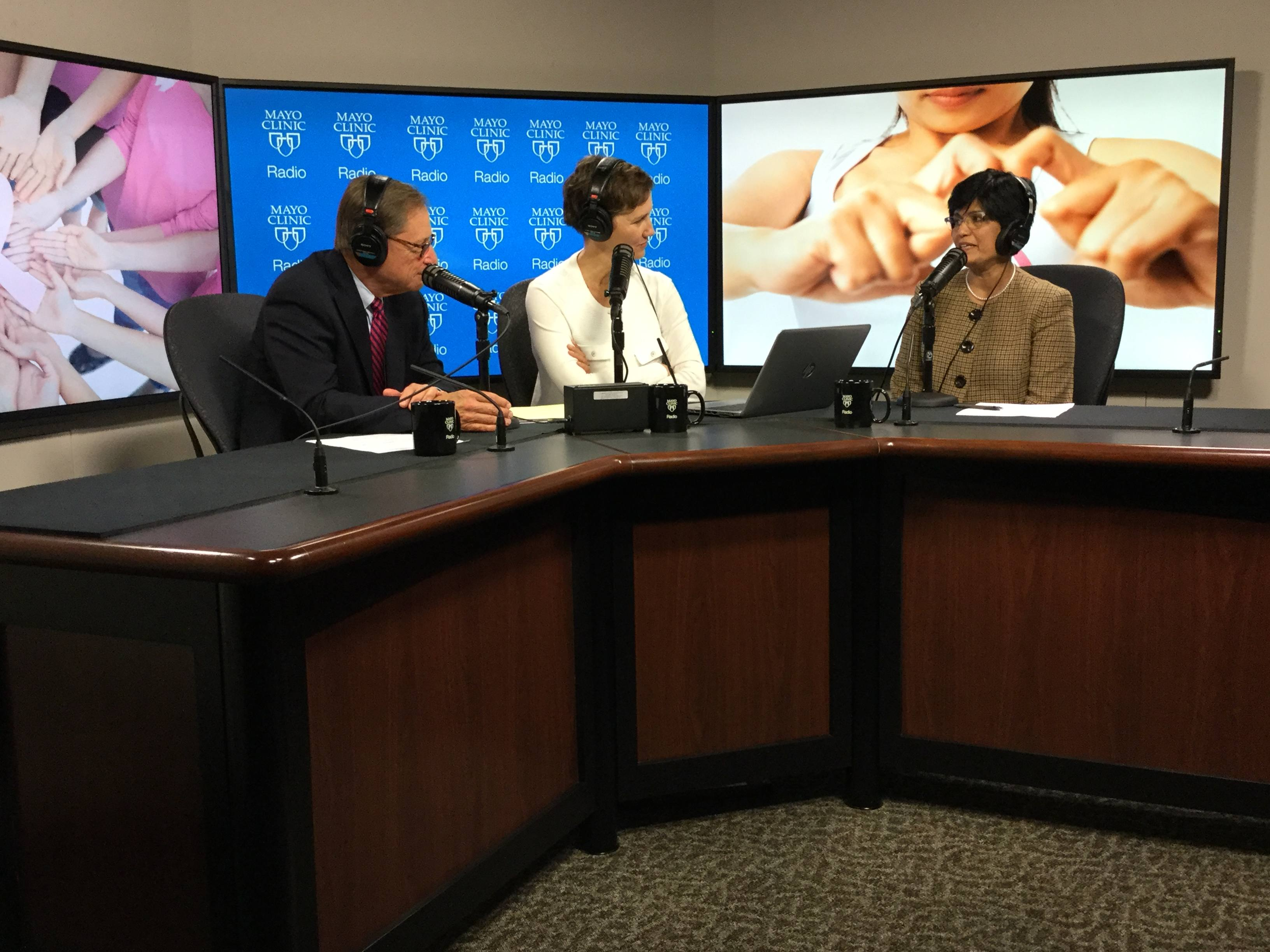 Dr. Karthik Ghosh being interviewed on Mayo Clinic Radio