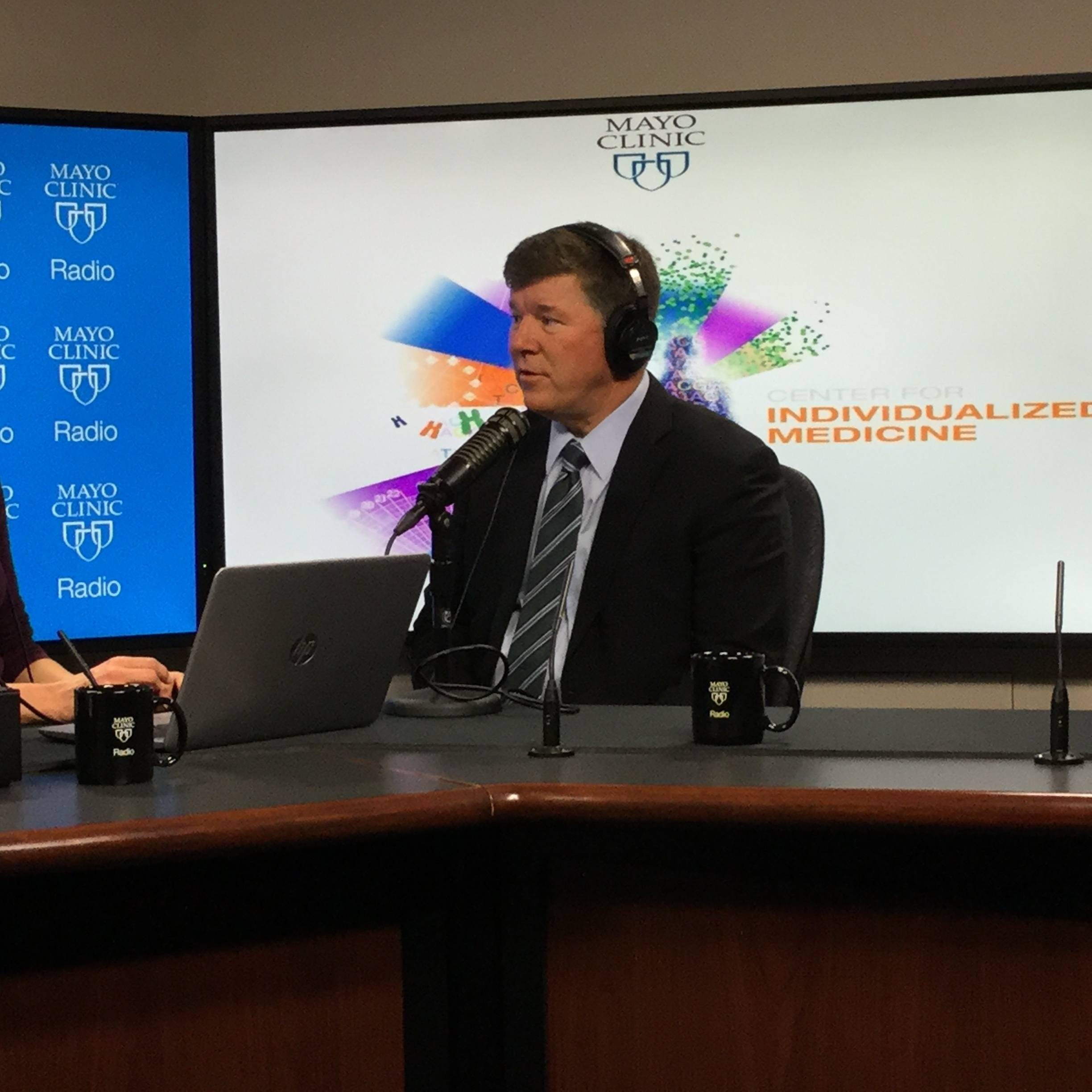 Dr. Keith Stewart being interviewed on Mayo Clinic Radio