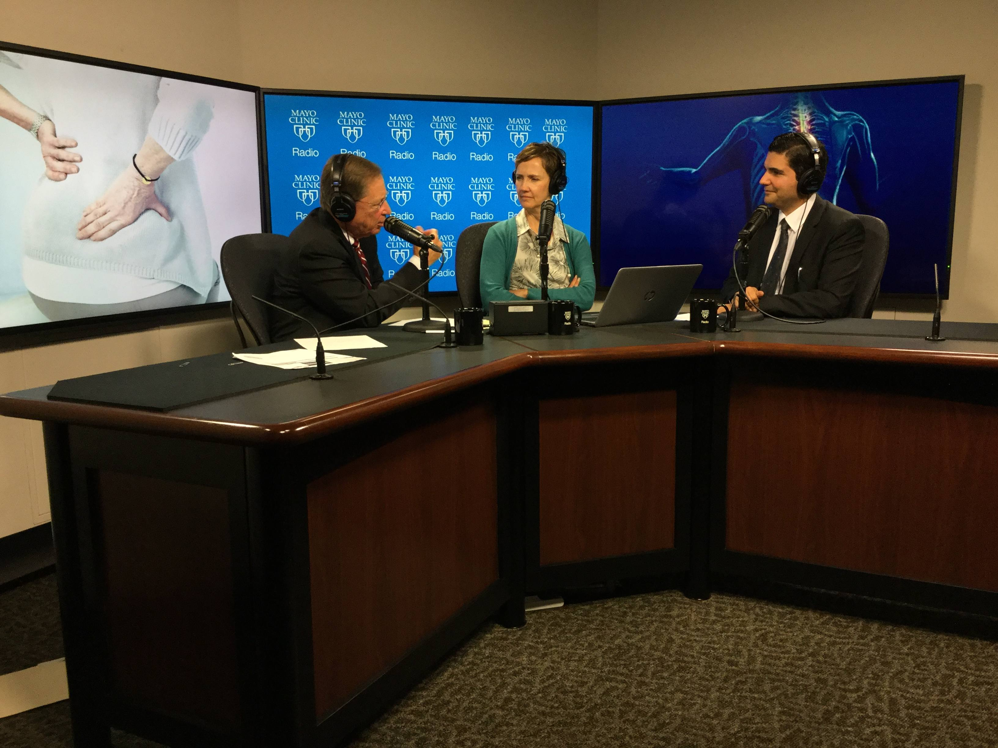 Dr. Mohamad Bydon being interviewed on Mayo Clinic Radio