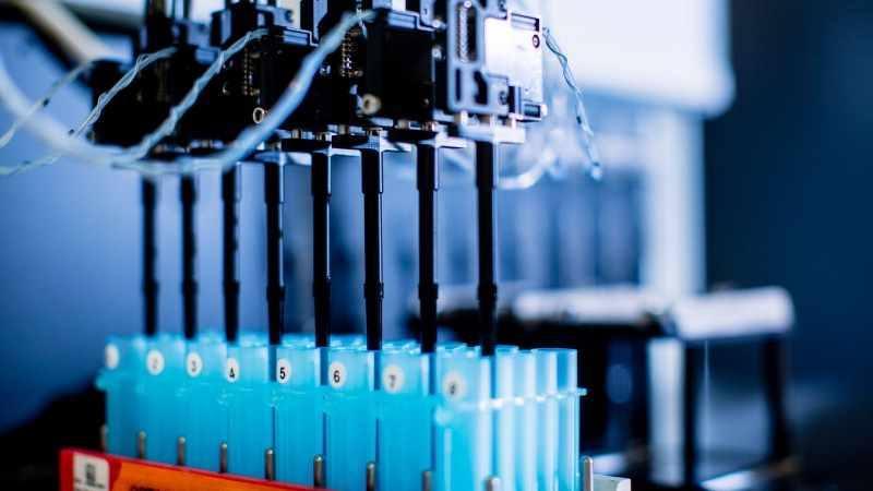 Análisis de laboratorio realizados con tubos de ensayo