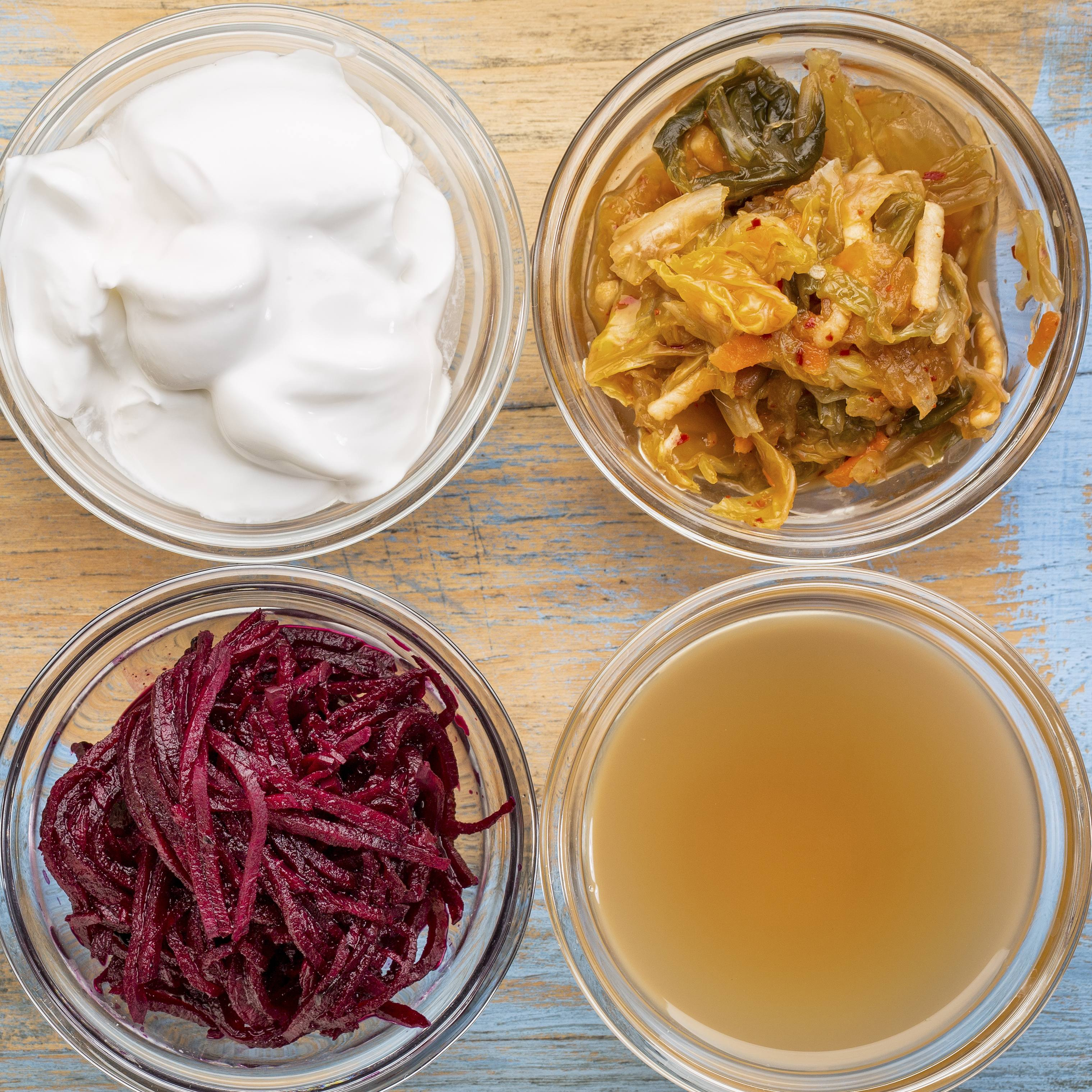 a set of fermented food great for gut health