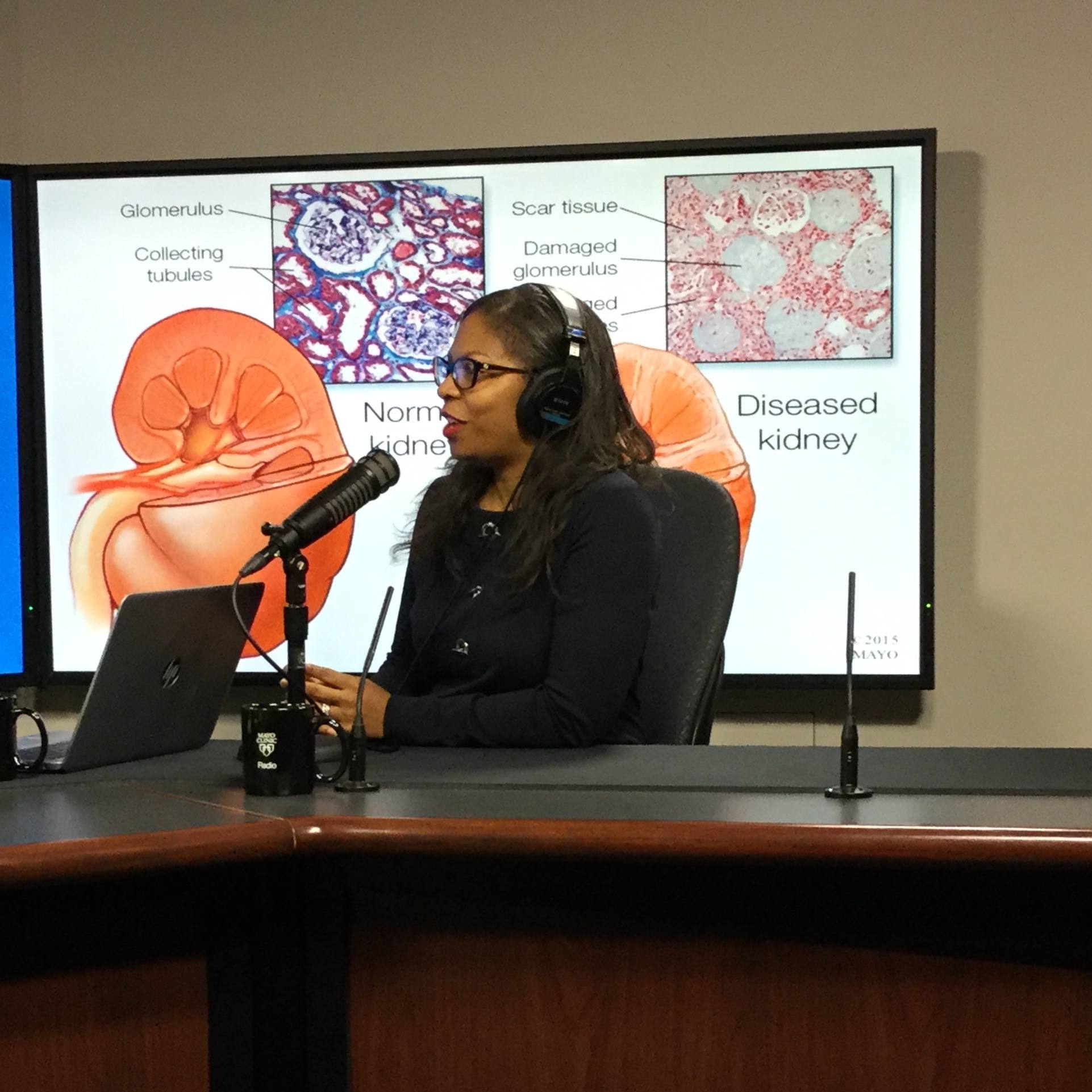 Dr. LaTonya Hickson being interviewed on Mayo Clinic Radio