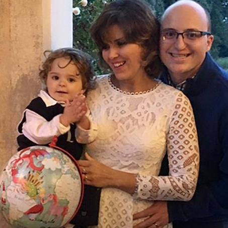 Dr. Luciana Farfalli celebrating with her family