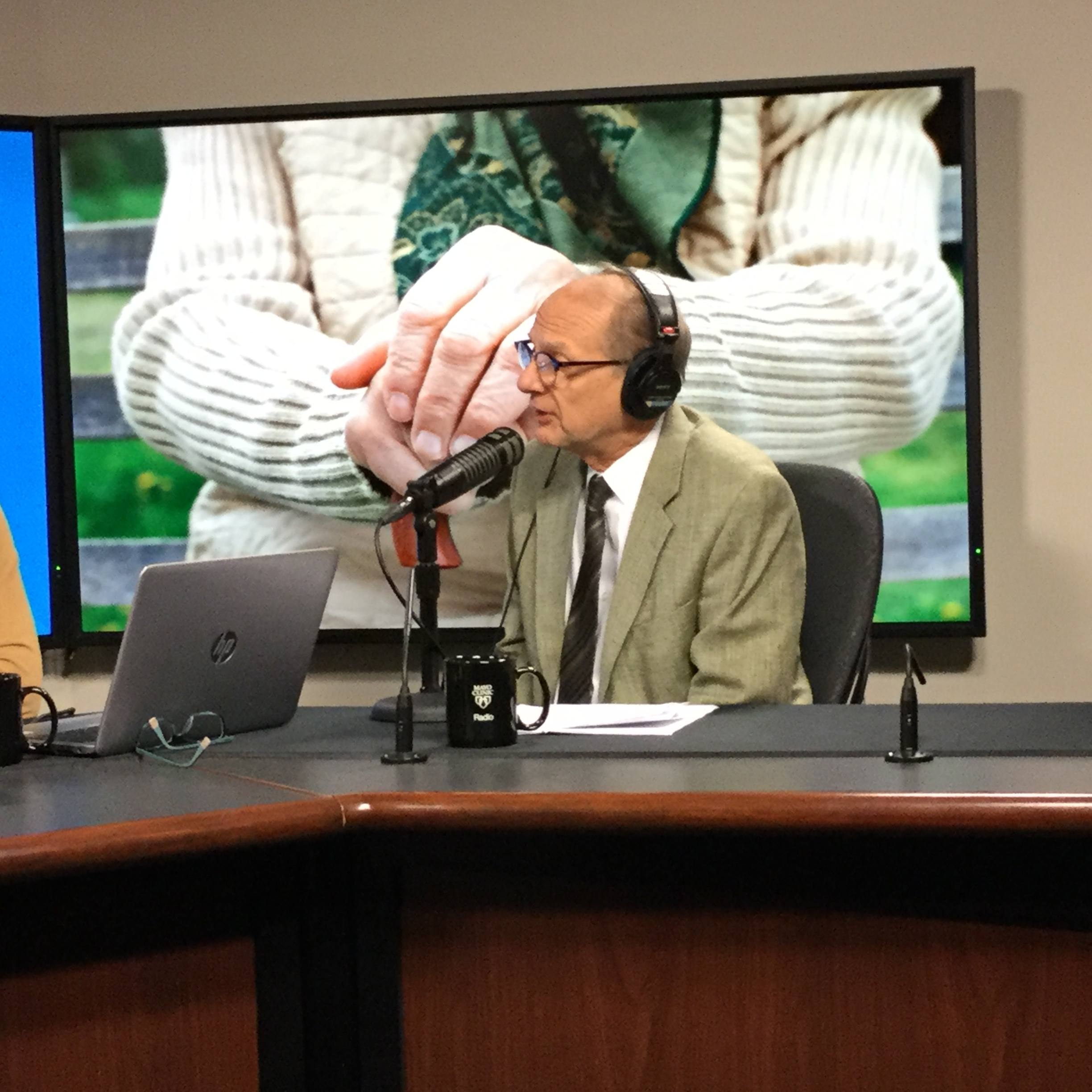 Dr. Eric Matteson being interviewed on Mayo Clinic Radio