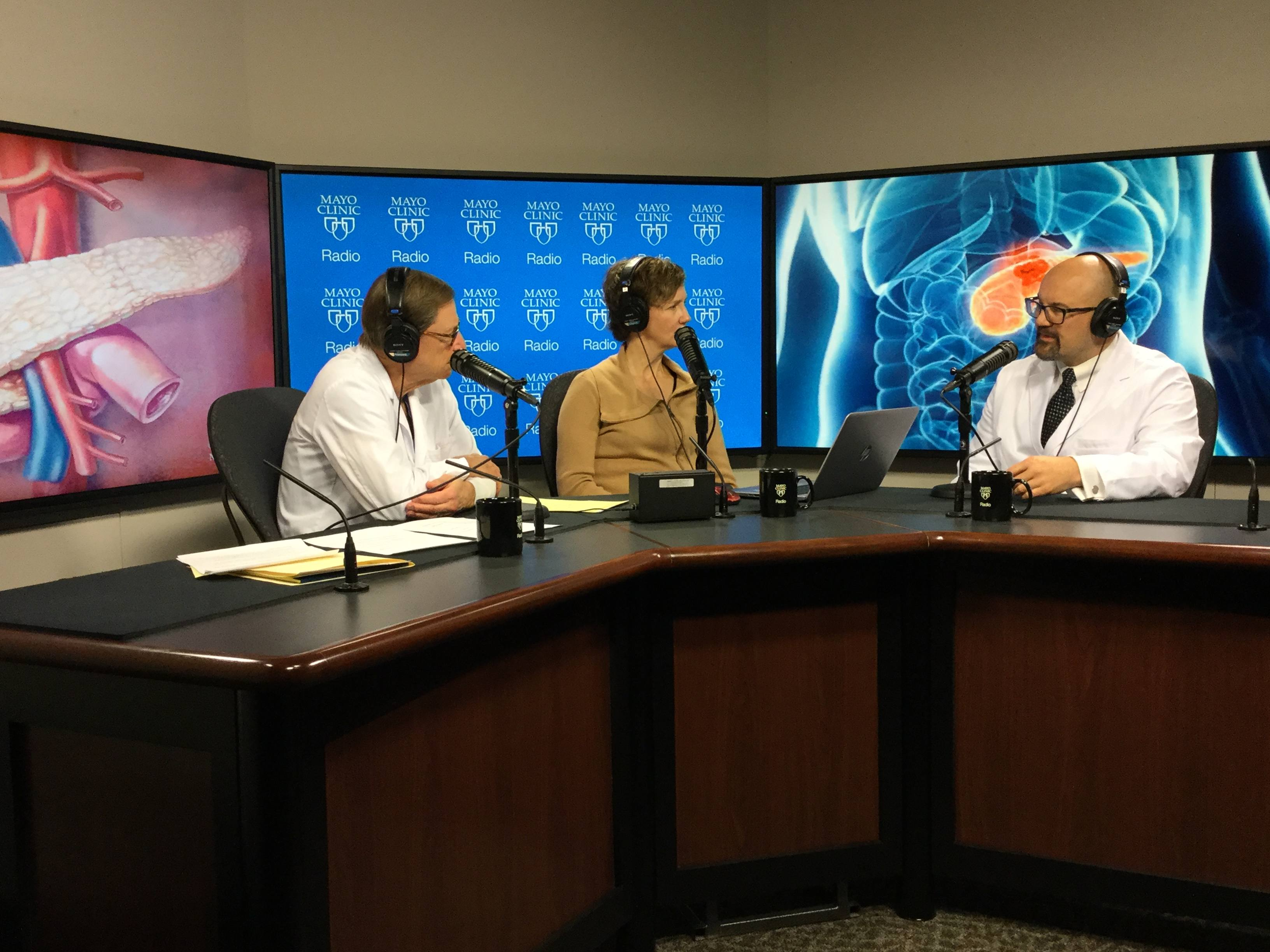 Dr. Mark Truty being interviewed on Mayo Clinic Radio