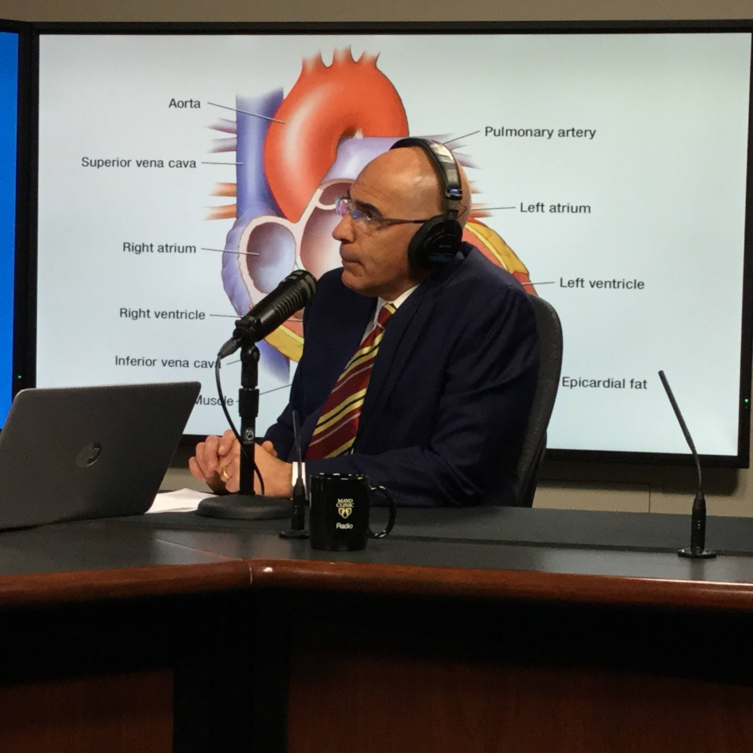 Dr. Joseph Dearani being interviewed on Mayo Clinic Radio