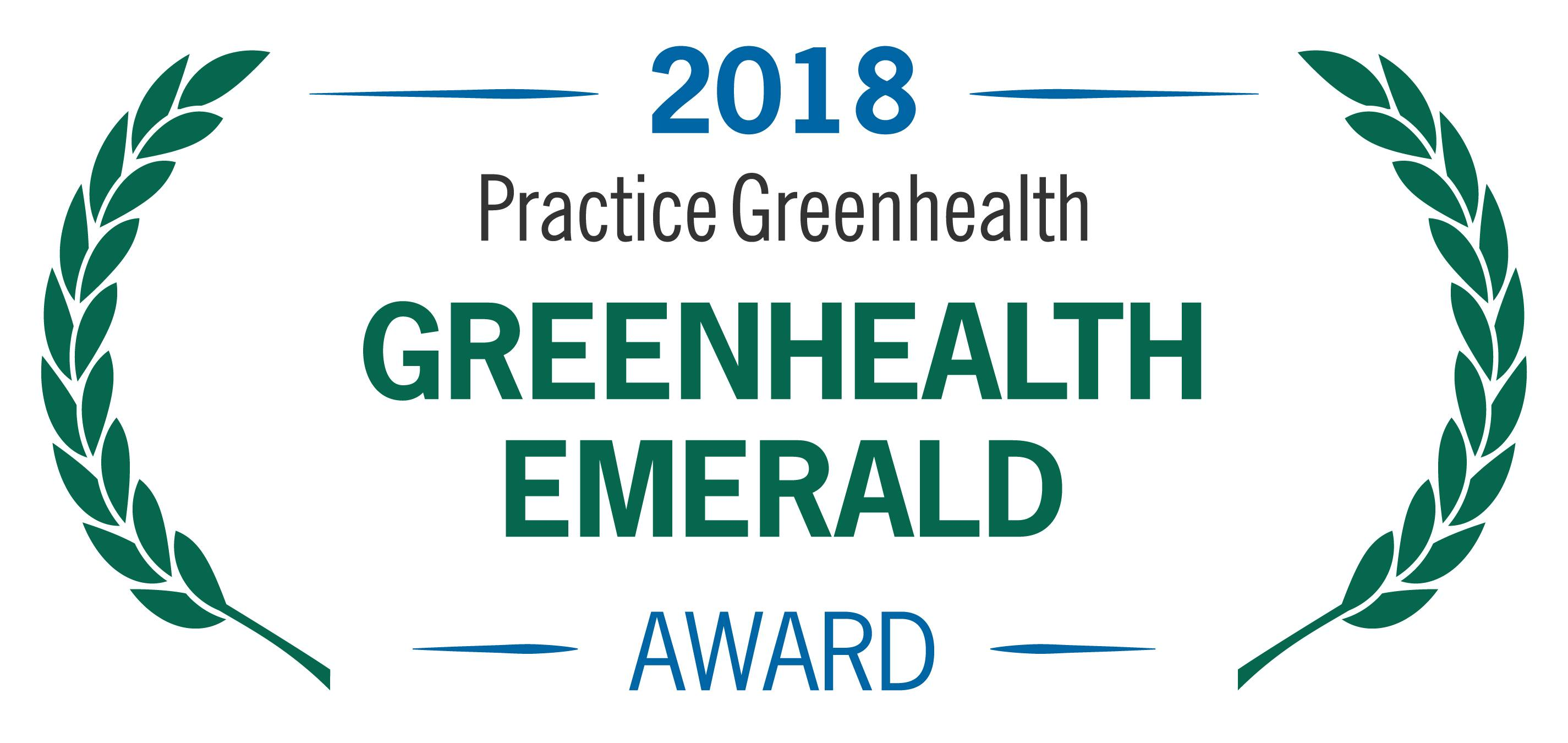 2018 Practice Greenhealth Emerald Award