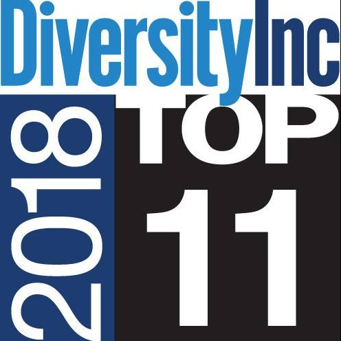 DiversityInc 2018 Top 11 Hospitals and Health Systems logo