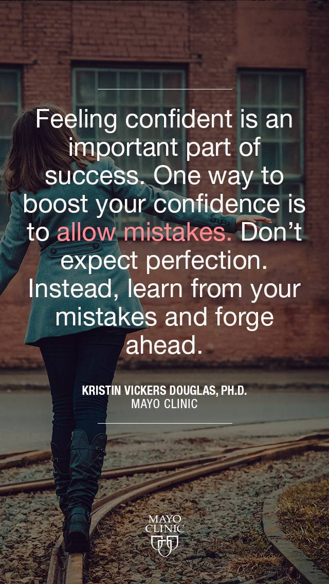 Feeling confident is an important part of success quote from Kristin Vicker Douglas, Ph.D.