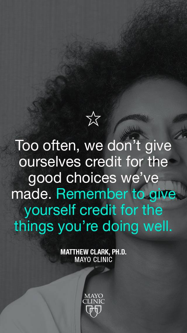 Too often, we don't give ourselves credit for the good choices we've made quote by Matthew Clark